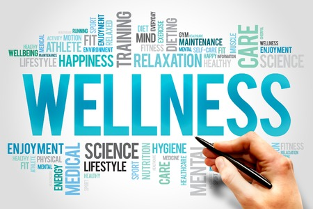 WELLNESS word cloud, fitness, sport, health concept