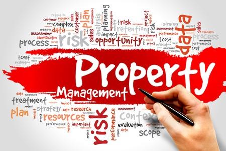 Photo pour Property Management word cloud, business concept - image libre de droit