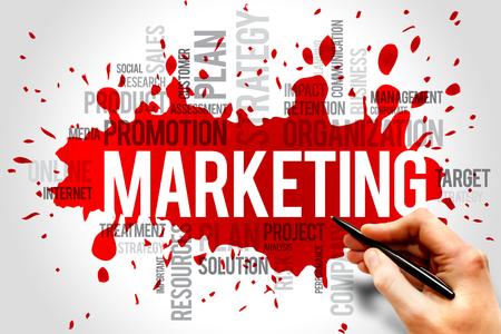 Photo pour Marketing word cloud, business concept - image libre de droit