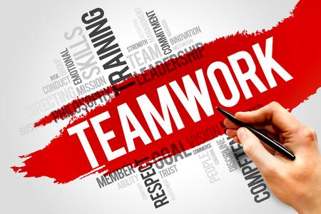TEAMWORK word cloud, business concept