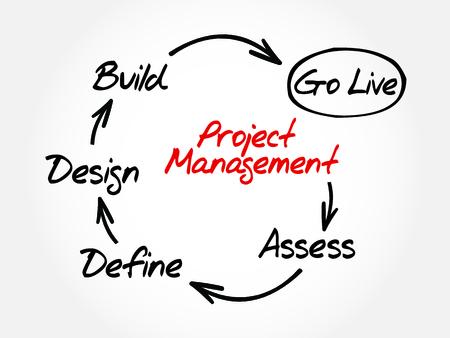 Illustration pour Project management mind map, business concept - image libre de droit