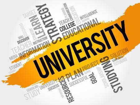 Illustration pour UNIVERSITY word cloud, education concept - image libre de droit
