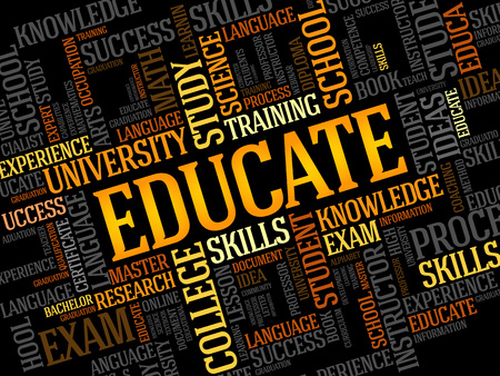 Foto per EDUCATE. Word education collage - Immagine Royalty Free