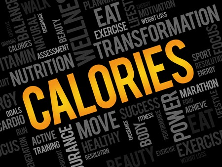 CALORIES word cloud, fitness, sport, health concept