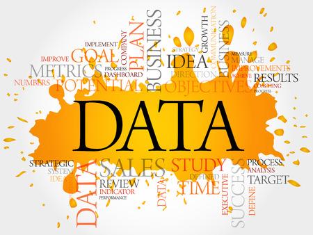 Photo pour Data word cloud, business concept - image libre de droit