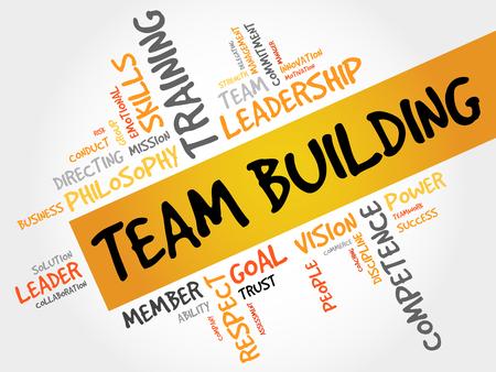 Photo pour TEAM BUILDING word cloud, business concept - image libre de droit