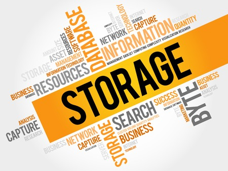 Storage word cloud, business concept