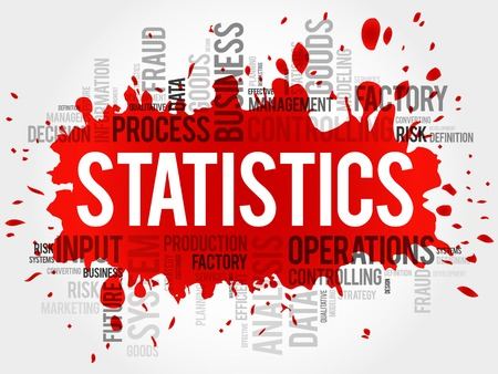 STATISTICS word cloud, business concept