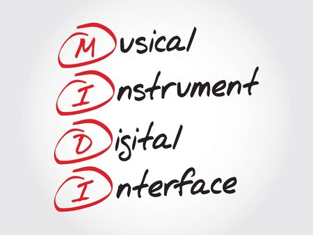 MIDI Musical Instrument Digital Interface, acronym concept