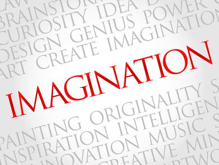 Illustration pour Imagination word cloud, business concept - image libre de droit