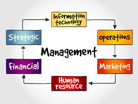 Management mind map business strategy concept