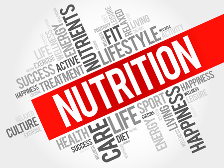 Photo for Nutrition word cloud, fitness, sport, health concept - Royalty Free Image