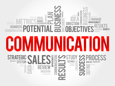 Illustration for Communication word cloud, business concept - Royalty Free Image
