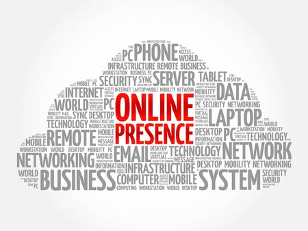 Online Presence word cloud concept