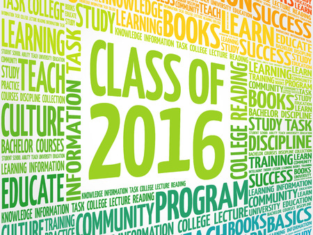 CLASS OF 2016 word cloud, education concept background
