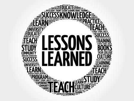 Illustration pour Lessons Learned word cloud, education concept - image libre de droit