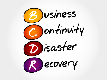 Illustration pour BCDR - Business Continuity Disaster Recovery, acronym business concept - image libre de droit