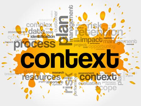 Context word cloud, business concept