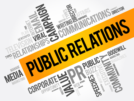 Illustration for Public Relations word cloud collage, business concept background - Royalty Free Image