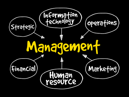 Management mind map business strategy concept background