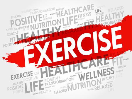 Exercise Word Cloud Fitness Sport Health Concept Tasmeemme Com