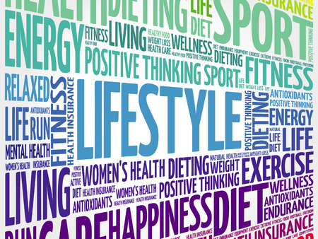 Illustration for LIFESTYLE word cloud, fitness, sport, health concept - Royalty Free Image