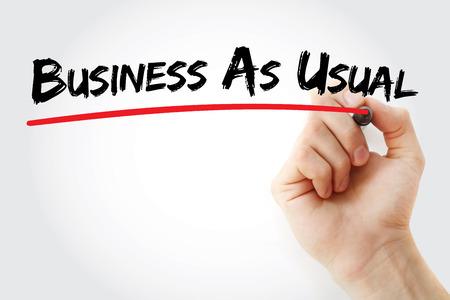 Photo pour BAU - Business as Usual acronym, business concept background - image libre de droit