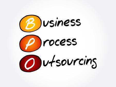 Illustration pour BPO - Business Process Outsourcing, acronym background - image libre de droit