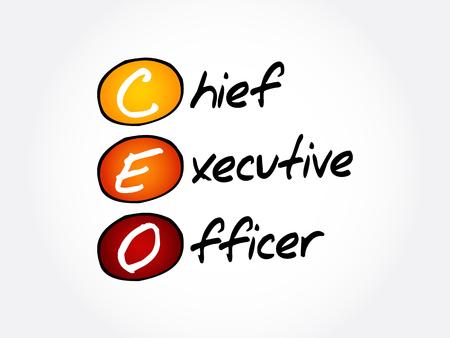 Illustration pour CEO – Chief executive officer acronym, business concept background - image libre de droit