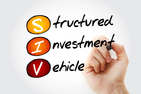 SIV - Structured Investment Vehicle acronym with marker, business concept background