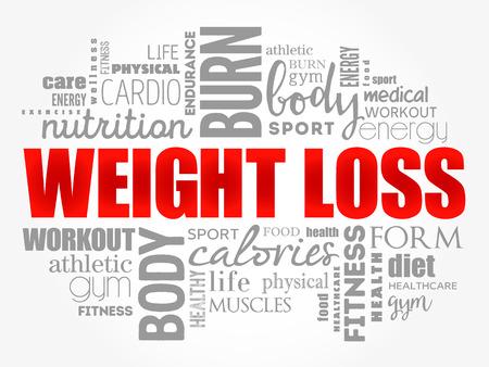 Illustration pour Weight Loss word cloud collage, health concept background - image libre de droit