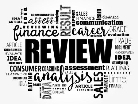 Illustration pour Review word cloud collage, business concept background - image libre de droit