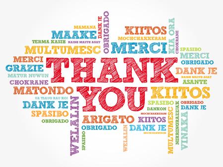 Foto de Thank You word cloud in different languages, concept background - Imagen libre de derechos