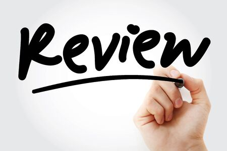 Review text with marker, business concept