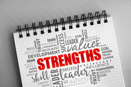 Photo pour Strengths word cloud collage, business concept background - image libre de droit