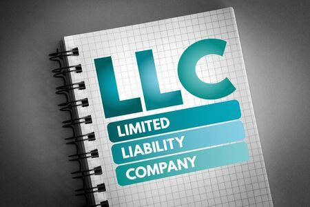 Photo pour LLC - Limited Liability Company acronym, business concept - image libre de droit