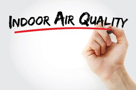 Photo for indoor air quality text with marker, concept background - Royalty Free Image