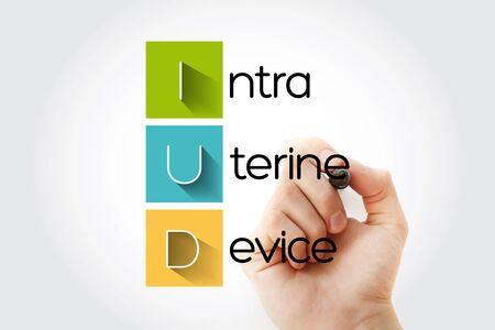IUD - Intra Uterine Device acronym, health concept background