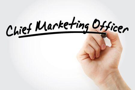 Photo pour CMO - Chief Marketing Officer, acronym business concept background - image libre de droit