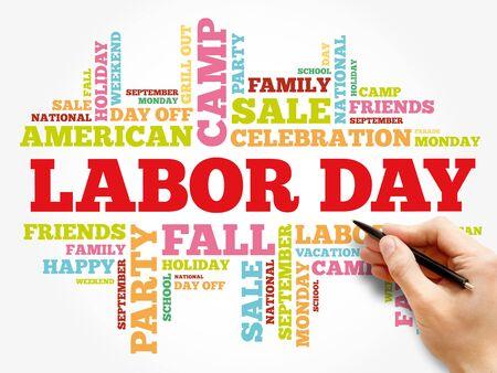 Foto de Labor Day word cloud collage, holiday concept background - Imagen libre de derechos