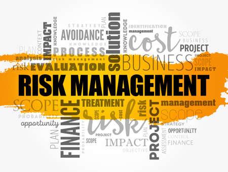 Illustration pour Risk Management word cloud collage, business concept background - image libre de droit