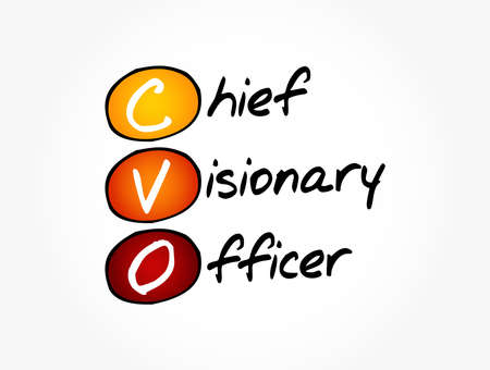 Illustration pour CVO - Chief Visionary Officer acronym, business concept background - image libre de droit