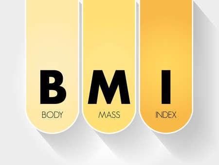 Illustration pour BMI - Body Mass Index acronym, health concept background - image libre de droit