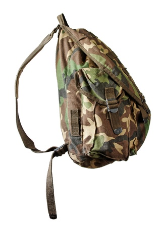 Military backpack isolated
