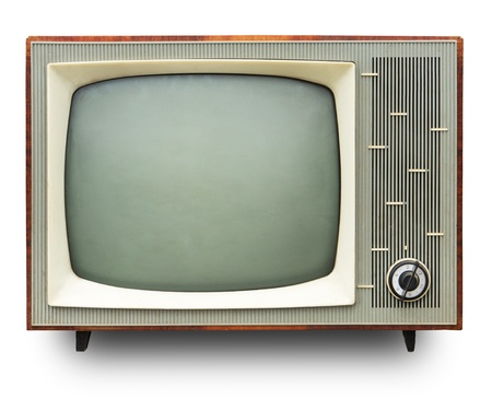 Vintage TV set isolated