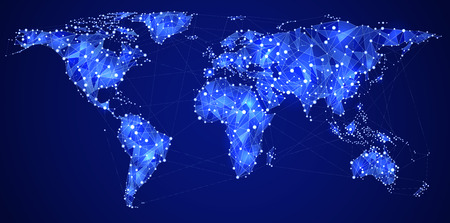 Abstract illustration of world internet and global communications
