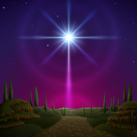 Illustration for Star of Bethlehem. EPS 10, contains trasparency, contains mesh. - Royalty Free Image
