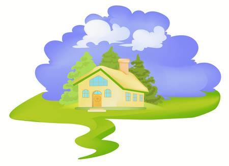 Little house in village
