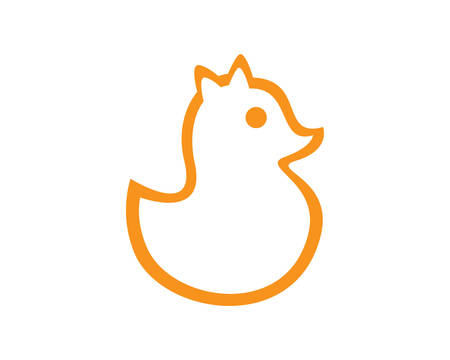 Duck logo template vector icon illustration design