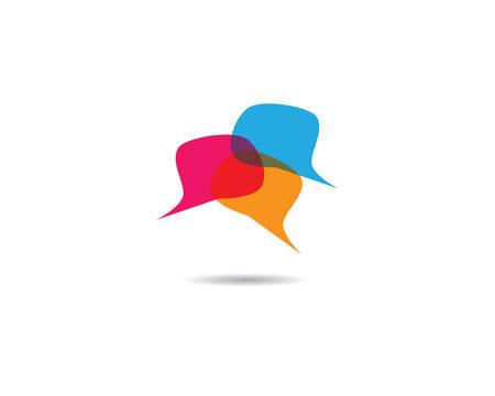 Illustration pour Speech bubble icon Logo template vector illustration - image libre de droit